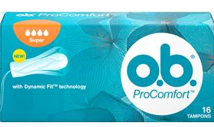 Εικόνα συσκευασίας PROCOMFORT™ Super. Το προϊόν έχει τέσσερις σταγόνες, υποδεικνύοντας ότι συνιστάται για μεγάλη έως πολύ μεγάλη ροή.