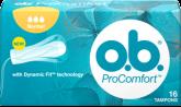 Εικόνα συσκευασίας PROCOMFORT™ Normal. Το προϊόν έχει τρεις σταγόνες, υποδεικνύοντας ότι συνιστάται για μέτρια έως μεγάλη ροή.